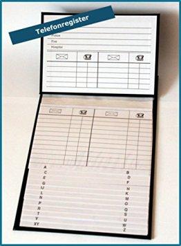 Telefonregister Telefonbuch Adressbuch Adressregister Register Ringbuch Büro 759 -