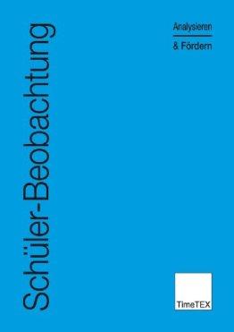 TimeTEX Schülerbeobachtung - Analysieren und Fördern - Blau -A4 - Heft - 10776 - Schülerbeobachtung -