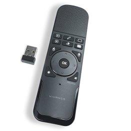 Vivanco Wireless Presenter (mit Touchpad, Laserpointer, Maus Funktion, Mouse, für Windows, Apple Mac, Android, Linux) schwarz/weiß -