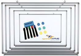 Whiteboard Magnettafel mit Alurahmen und durchgehender Stiftablage, in 9 Größen, schutzlackiert, magnethaftend, CLIP Funktion, mit Montagematerial und gratis Zubehör (Stifte,Schwämme), Größe:30x45 cm -