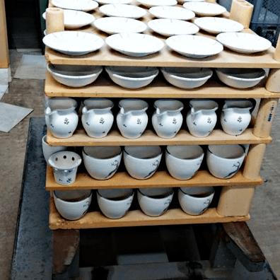 Gmundner Keramik Ofen Vorbereitung