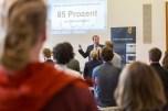 Achim Neuhäuser von der Berliner Energieagentur stellte die Green Economy in Berlin und die teilnehmenden Unternehmen vor. Foto: ©Berliner Energieagentur, Dietmar Gust