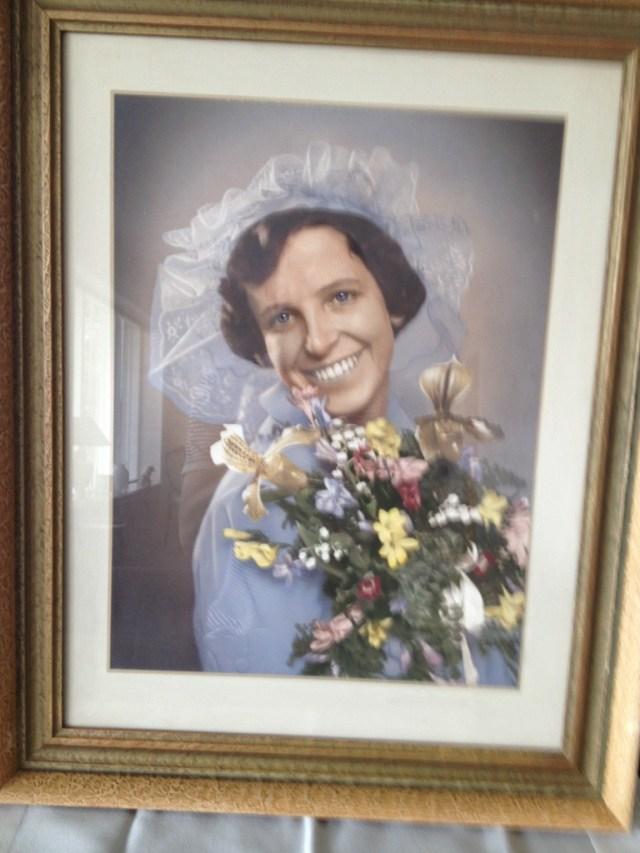 Min elskede Mormor på hendes bryllupsdag
