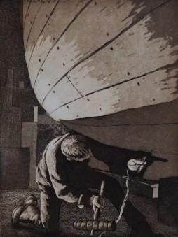 Caulking - etching & aquatint - edition size 15