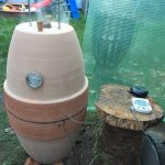 Keramikgrill mit Temperaturmesser