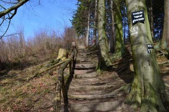 Treppe hoch von der Teufelsbrücke