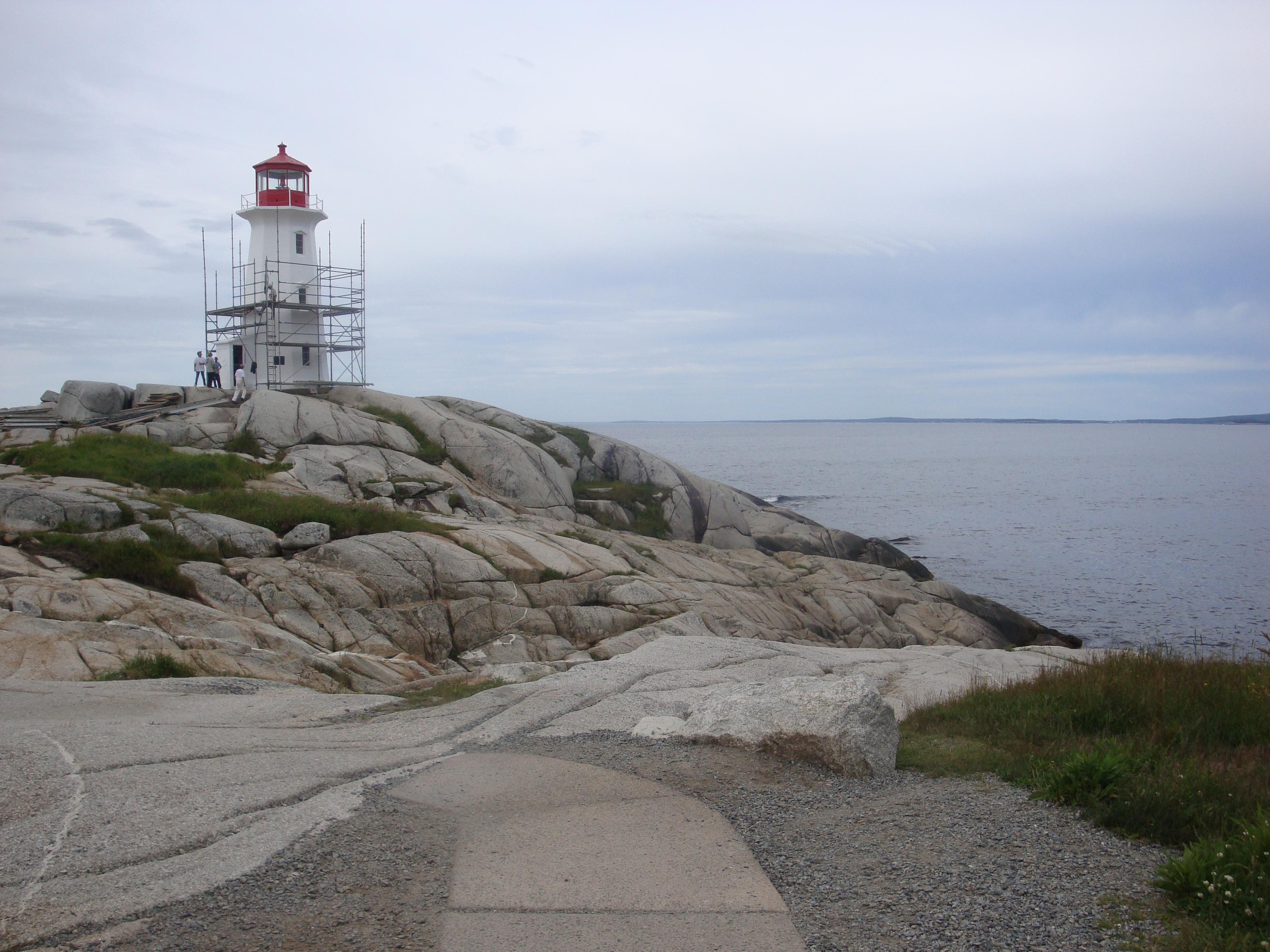 Es Lichthaus vun Peggy's Cove.