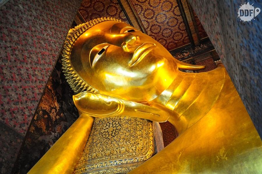 templo, Wat Pho, Reclining, Buddha, bkk