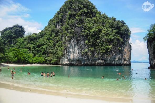 praia da Hong Island / Koh Hong, Railay Beach, Krabi, Tailândia
