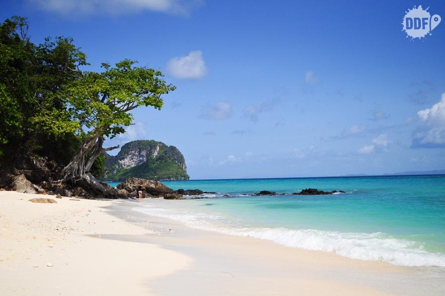 Praia de Bamboo Island, Koh Phi Phi, Tailândia
