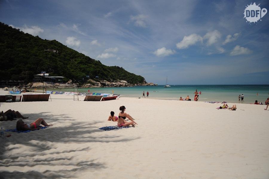 Koh Phangan Haad Rin, sun rise, praia, Tailândia