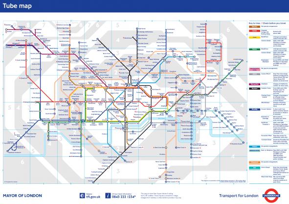 Mapa metro de Londres - Inglaterra