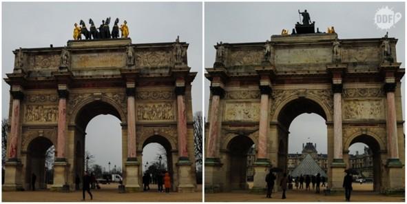 louvre-museu-palacio-arco-do-trunfo-do carrossel-jardim-tulherias-paris-franca