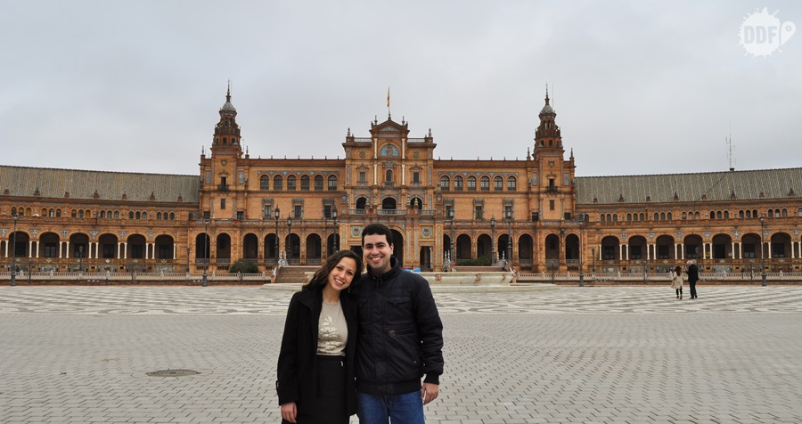 viagem, mochilao, europa, espanha, sevilha, andaluzia, praça de espanha