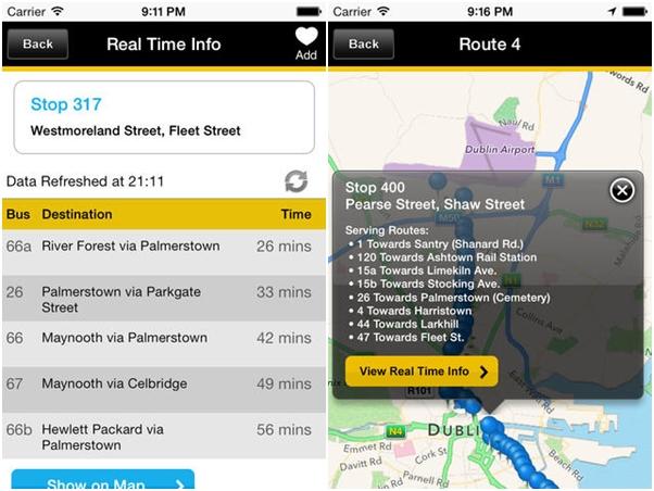 ações para importar dublin bus app tela iphone horario tempo real