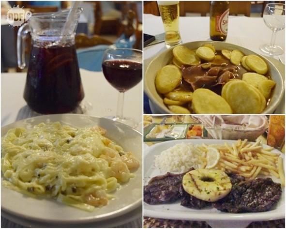 comida portuguesa viagem ferias algarve portugal europa sangria massa frutos do mar camarao bife a portuguesa picanha