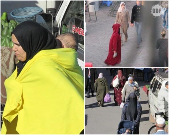 marrakech cidade vermelha marrocos mulheres marroquinas roupas tradicionais isla viagem ferias africa