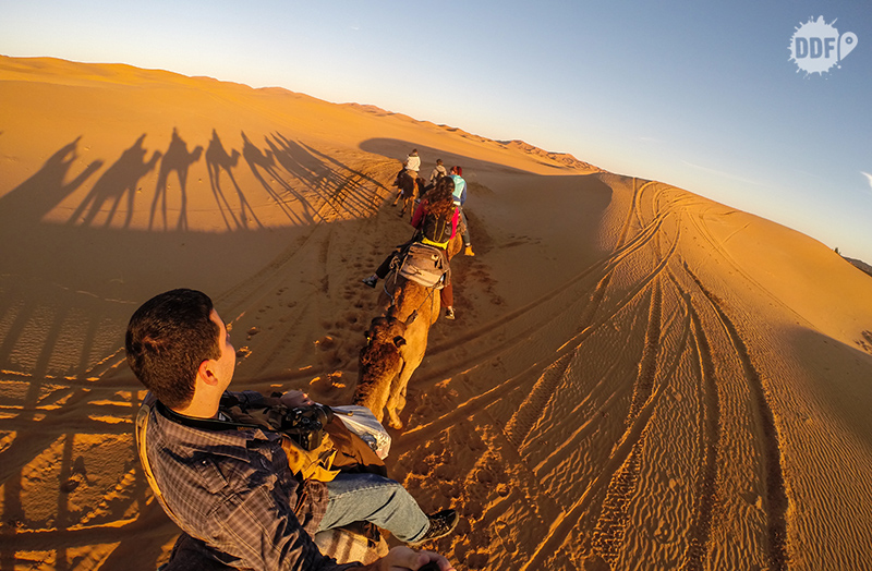 Nascer do sol no deserto do saara - por do sol - gopro
