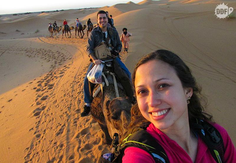 selfie no deserto do saara, Marrocos