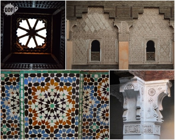 Ben Youssef Museu de Marrakech detalhes sala quarto dos estudantes