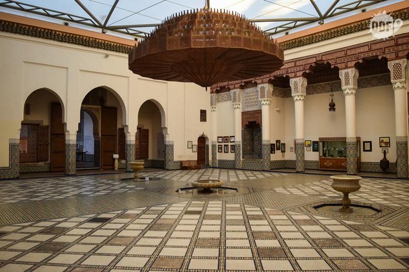 Ben Youssef Museu de Marrakech salao principal lustre