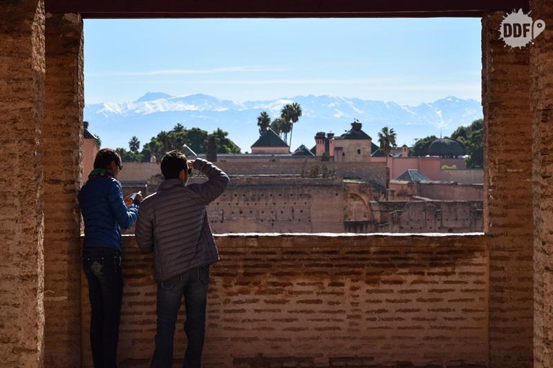 palacio badi palais el badii vista montanha atlas marrakech palácios marrocos