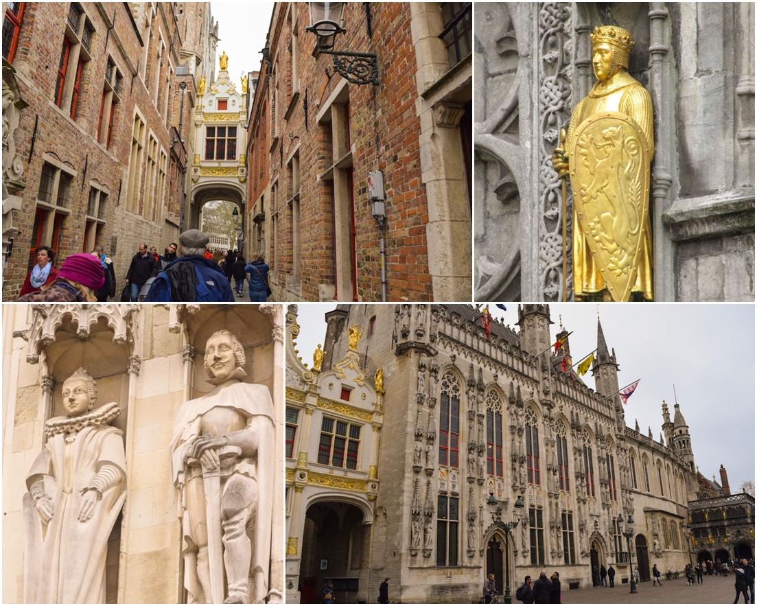 Bruges cidade de conto de fadas Belgica detalhes town hall caminho para basilica sangue sagrado viagem Europa