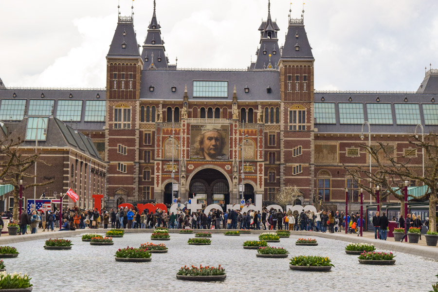 Letreiro i amsterdam - Museumplein praca dos museus