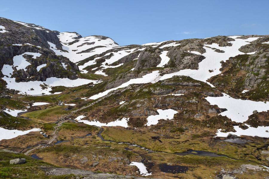 Trilha para a pedra Kjeragbolten na noruega 1