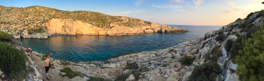 As melhores praias de Zakynthos - porto limionas panoramica