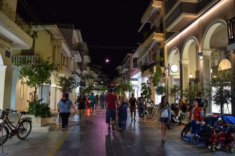 Centro de Zakynthos Town na Grécia