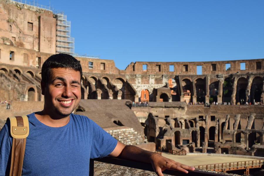 Coliseu de Roma verão sol dentro itália Europa eurotrip