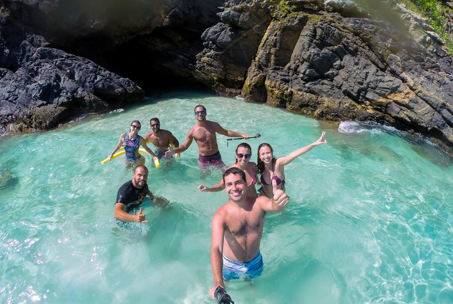 Passeio de barco em Arraial do Cabo - Gruta do amor