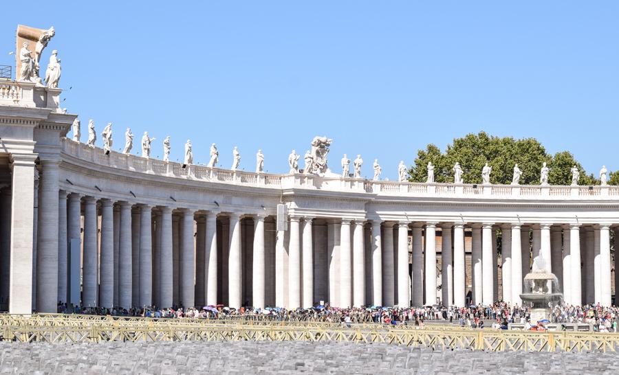 praca de sao pedro basilica vaticano roma europa visita viagem turismo