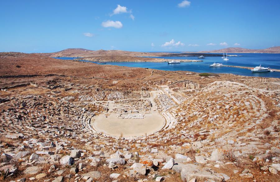 Grecia, Ilha de Mykonos, passeio ate a ilha de delos