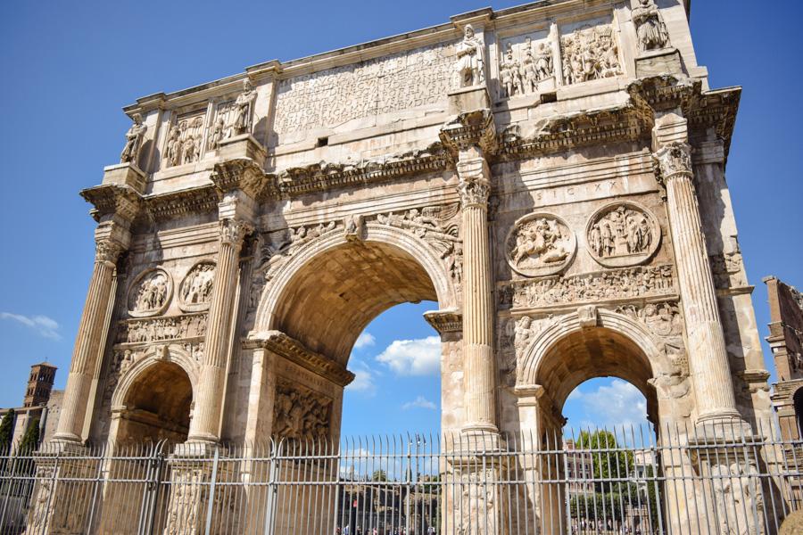 Roma arco de constantino arco do triunfo imperio italia monumentos imperdiveis
