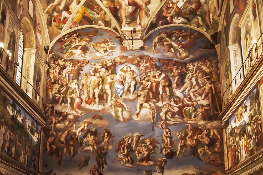 capela sistina museus do vaticano michelangelo pintura teto arte italia