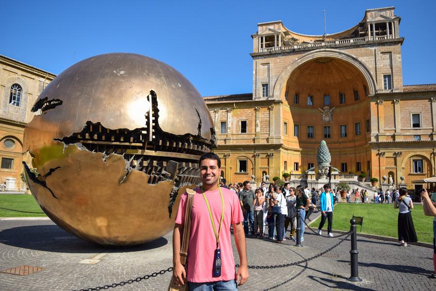 capela sistina museus vaticano cortille della pigna esfera dentro da esfera