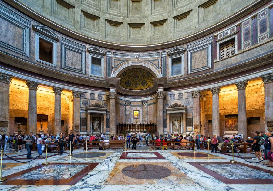 roma panteao pantheon romano dentro igreja monumentos imperdiveis viagem italia