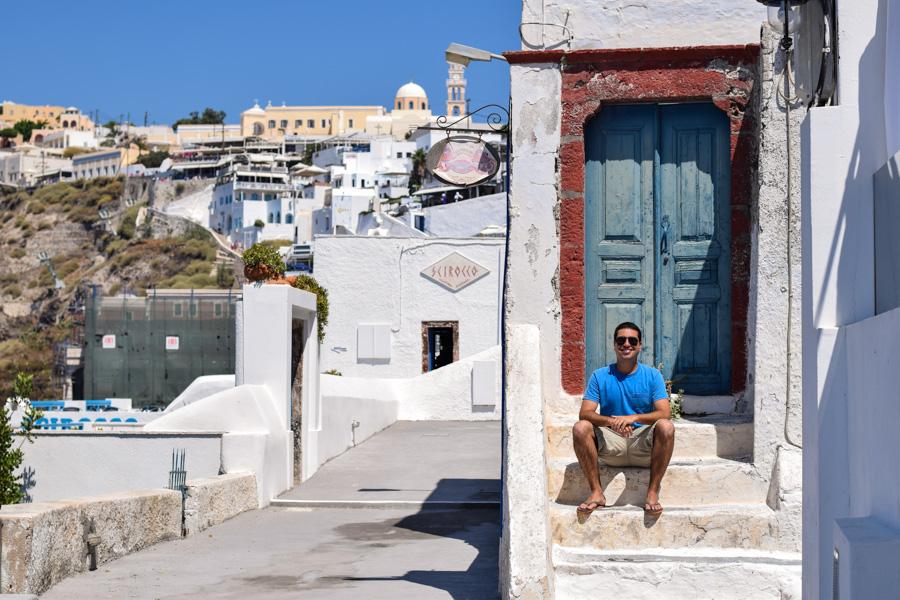 o que fazer em santorini grecia ruas de fira viagem ferias europa