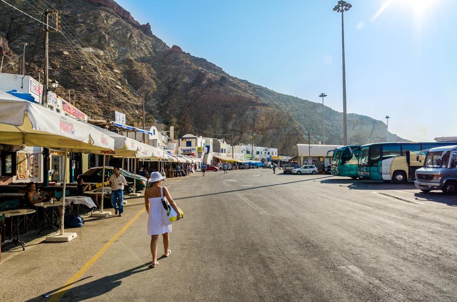 santorini grecia athinios port novo porto ferry chegada