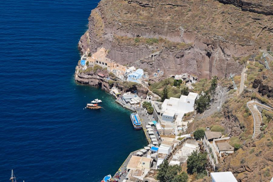 santorini grecia athinios port porto novo onde pegar o ferry viagem turismo europa