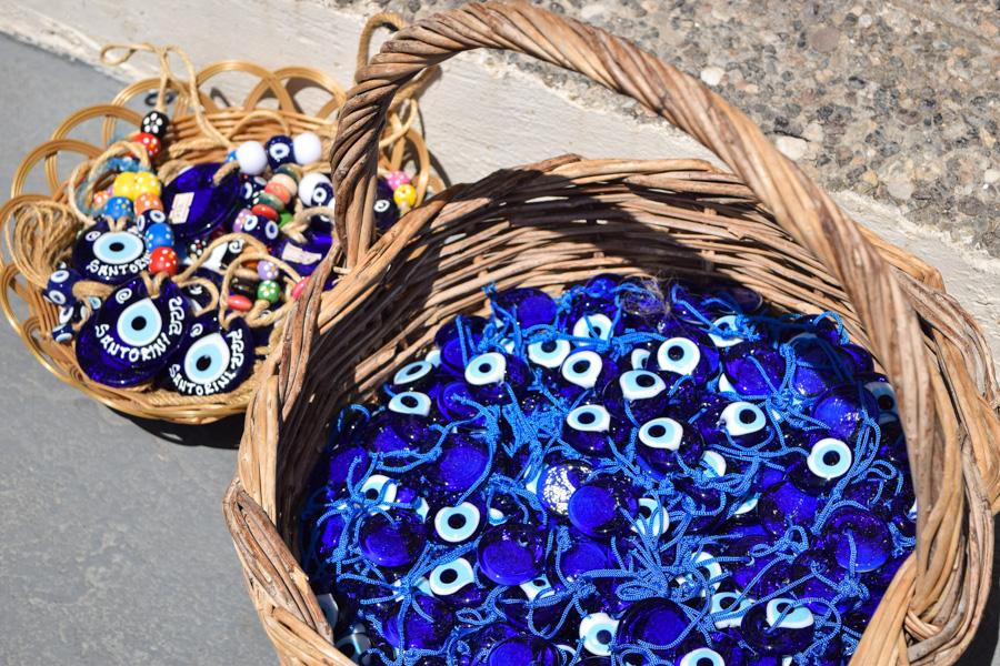 santorini grecia olho grego boa sorte amuleto souvenir viagem ferias verao europa