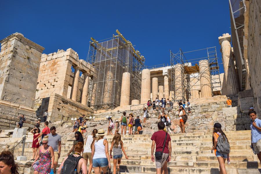 acropole entrada partenon propileus atenas grecia
