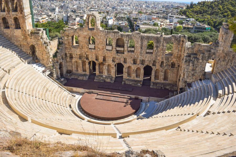 acropole odeon de herodes teatro atenas grecia