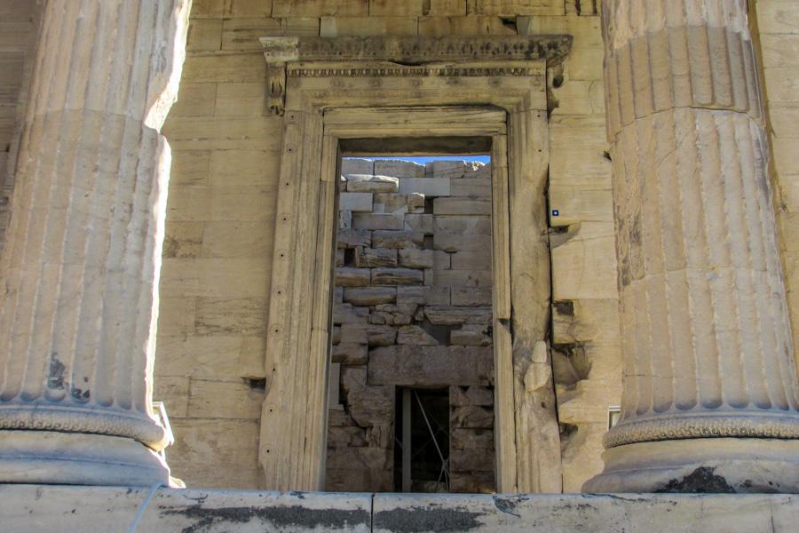 acropole propileus portoes entrada partenon templos atenas grecia