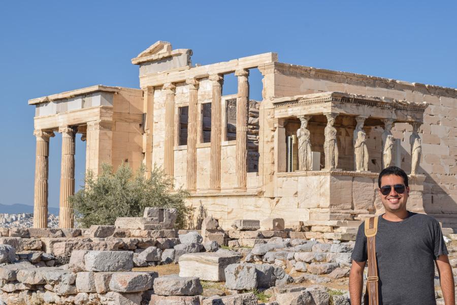 acropole templo erecton atena poseidon partenon atenas grecia