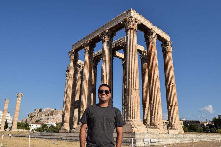 atenas templo zeus olimpico acropole grecia viagem ferias
