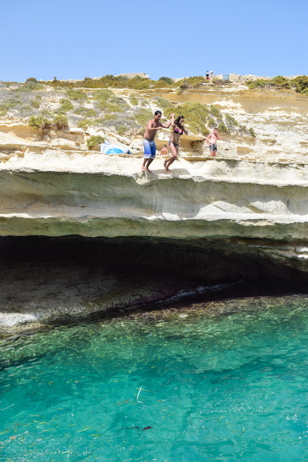 melhores praias de malta st peters pool salto
