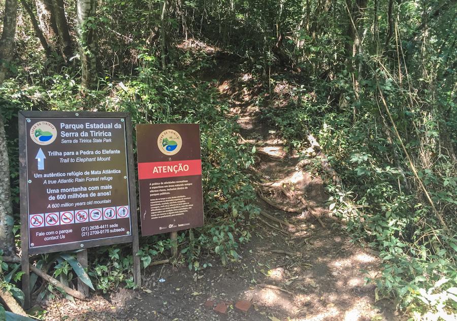 pedra do elefante alto mourao entrada trilha serra da tiririca